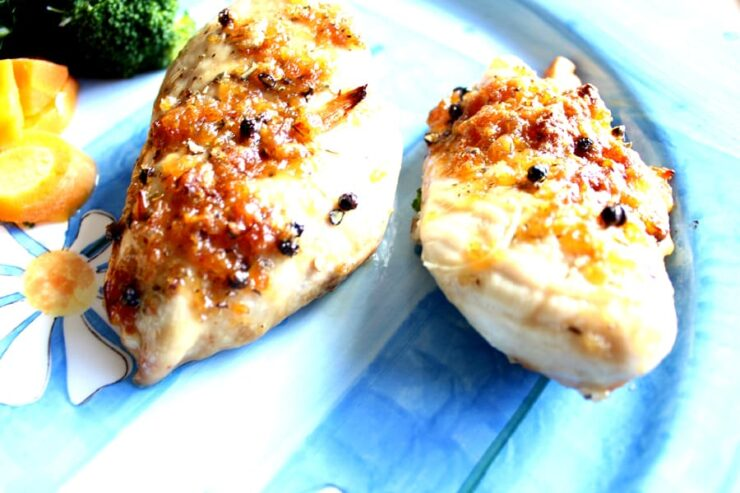Easy Baked Chicken Breasts with Brown Sugar and Garlic
