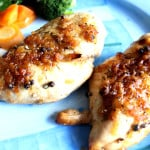 Easy Baked Chicken Breast Recipe with Caramelized Garlic in Less Than 30 Minutes – Only 4 Ingredients