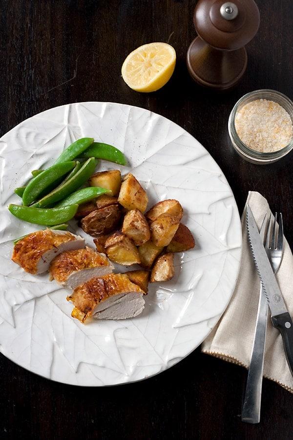 Lemon Roasted Chicken Recipe with Saffron & Meyer