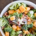 Broccoli with Bacon Salad
