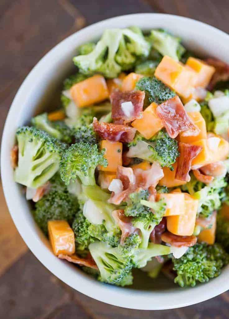 Broccoli with Bacon Salad Tasty