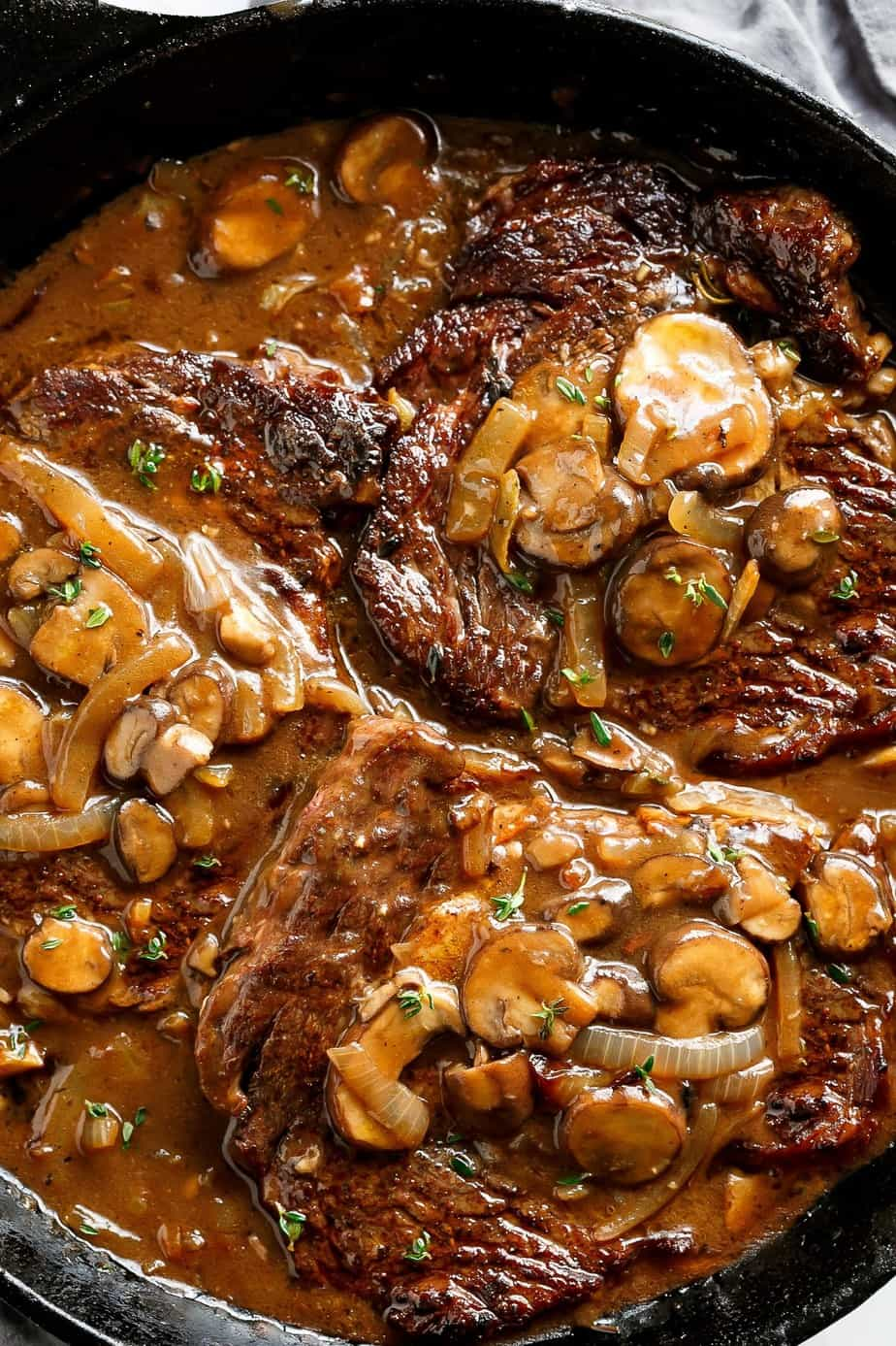 Steak-with-Mushroom-Sauce