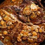Steak with Mushroom Sauce