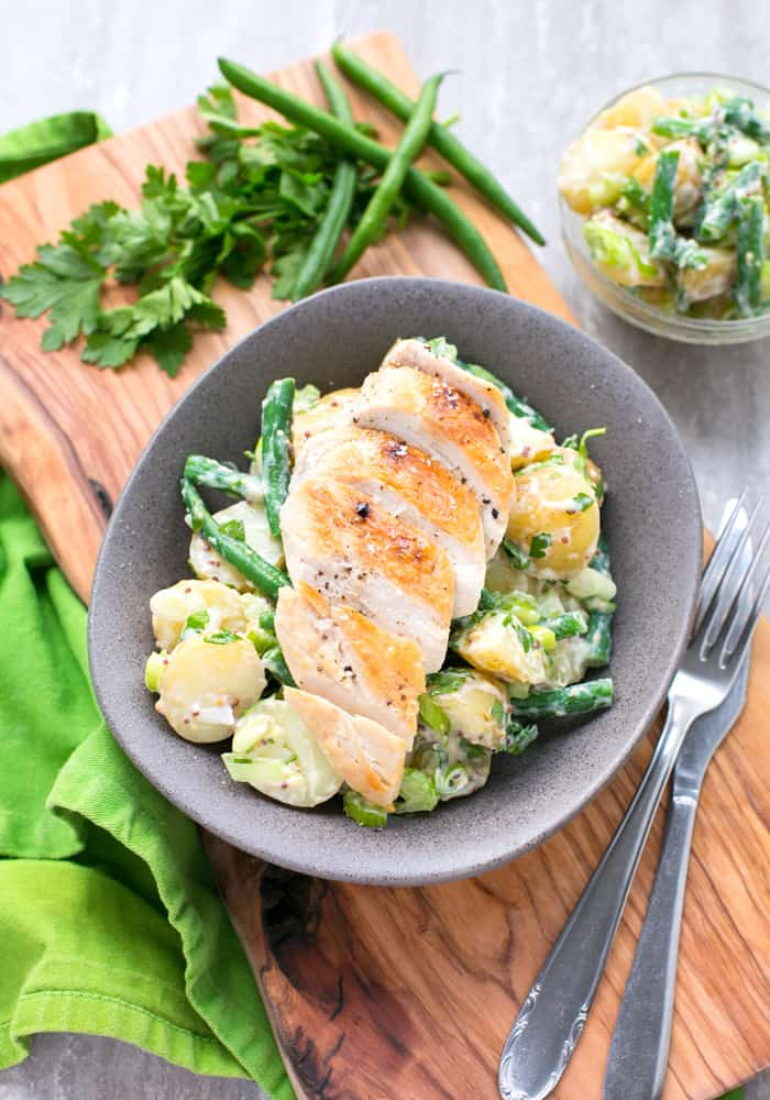 Grilled Chicken Green Bean Potato Salad