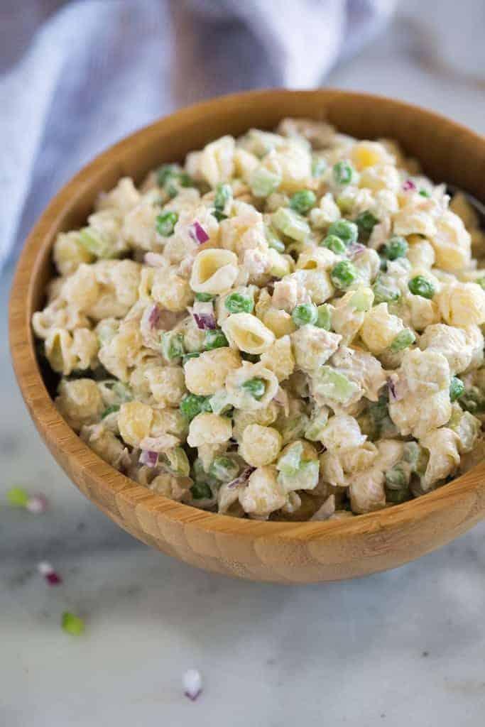 Healthy Tuna Pasta Salad Appetizer Girl