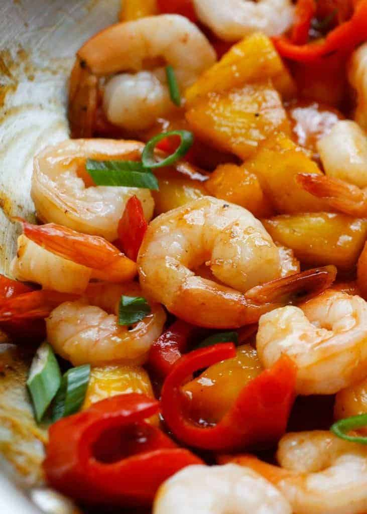 Sweet and Sou Pineapple with Shrimp