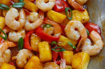 Tasty Pineapple with Shrimp