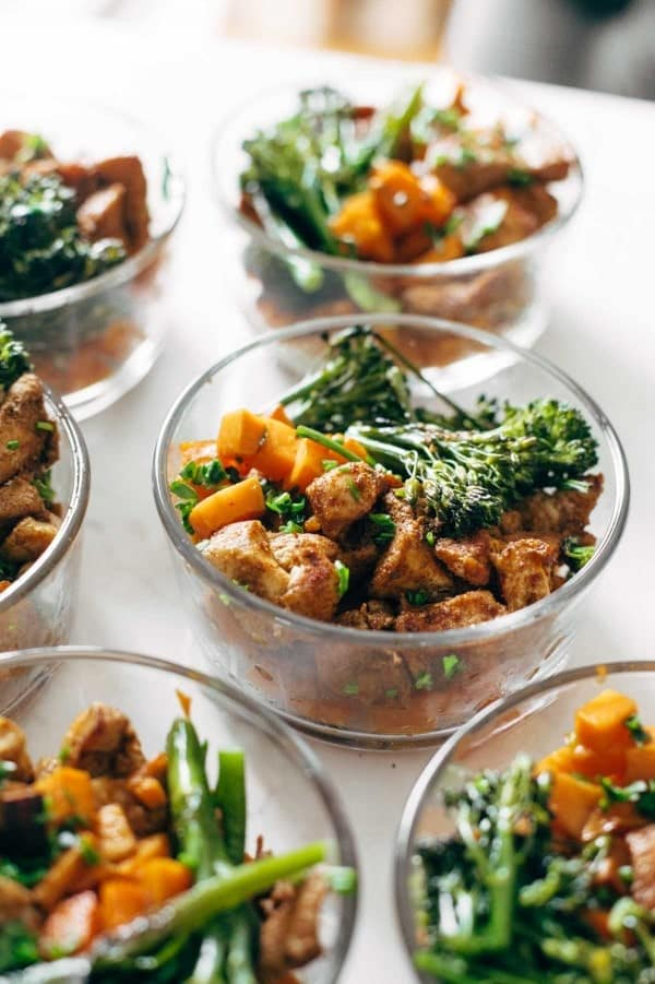 Chicken-Sweet Potato Meal in Bowls