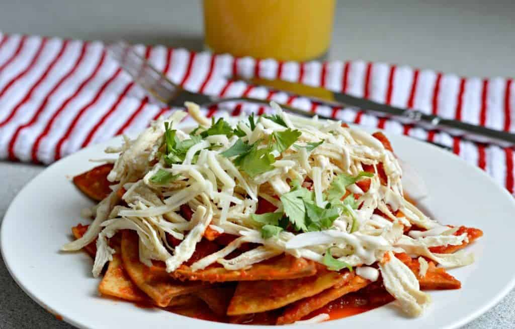 Chilaquiles with Sredded Chicken