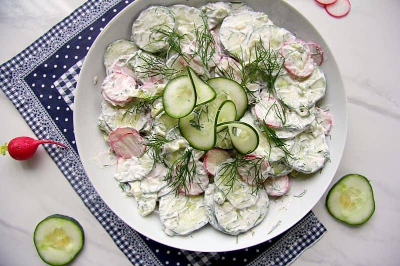 Creamy Cucumber Radish Salad Recipe