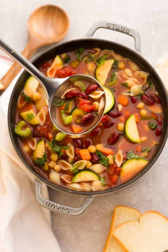 Instant Pot Minestrone with Pasta