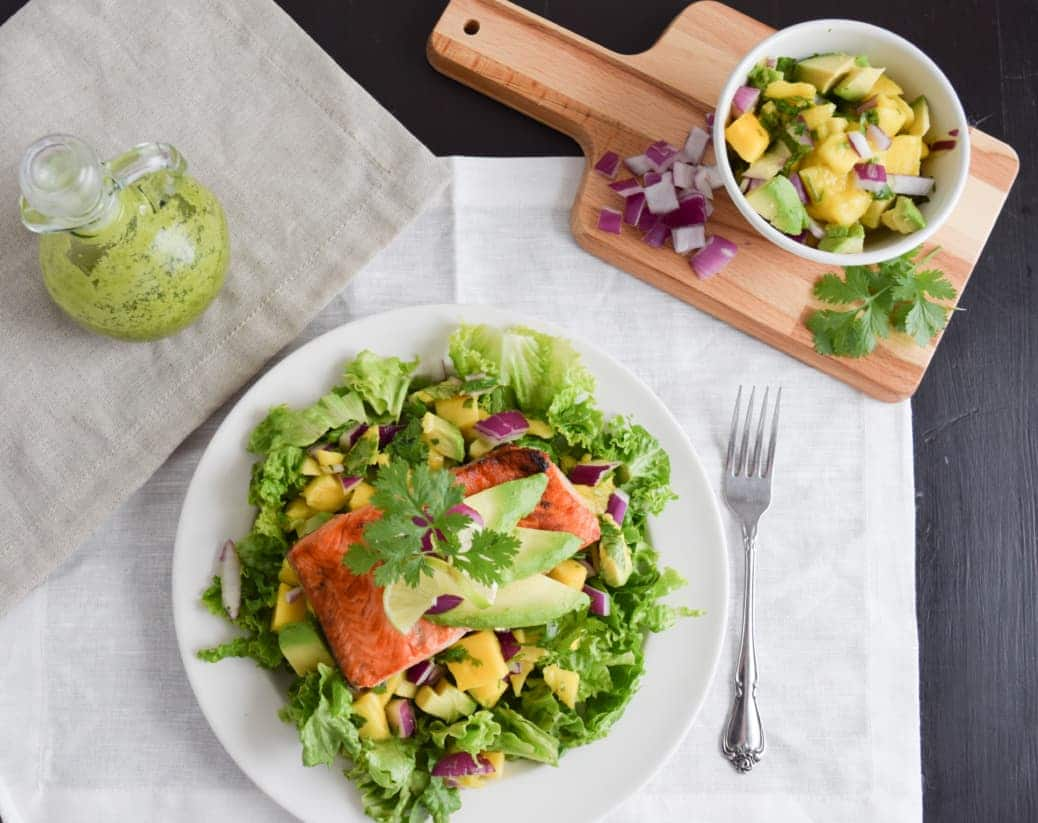 Salmon in a Salad Recipe