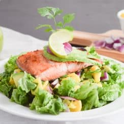 Salmon with Salad Recip