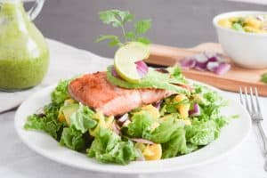 Salmon with Salad Recip