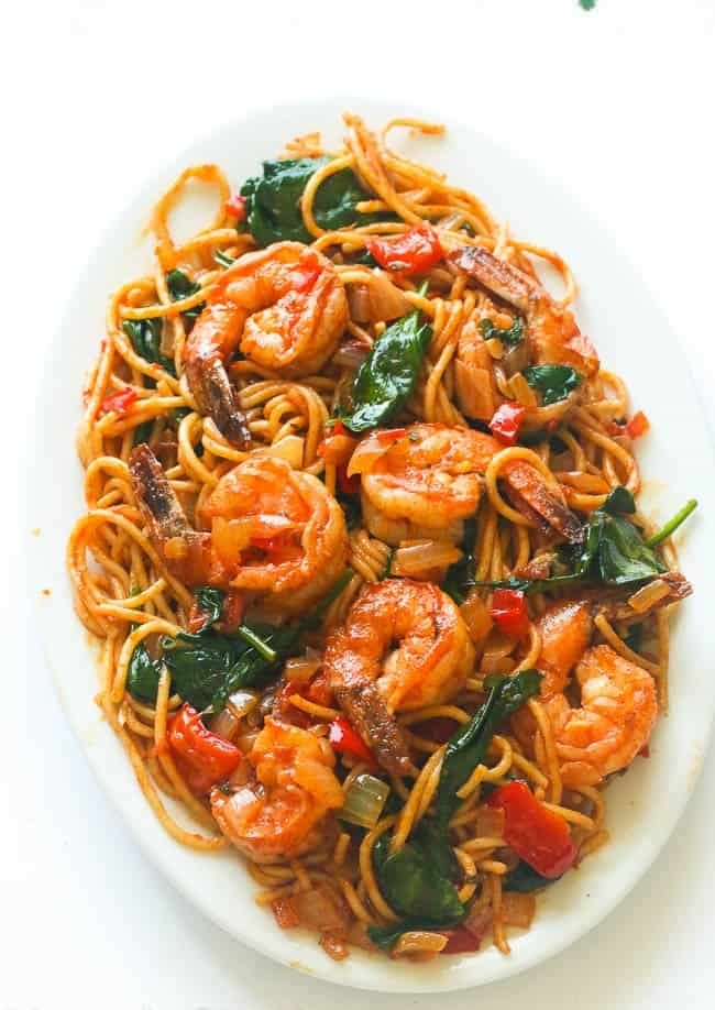 Spicy Shrimp Spaghetti Recipe