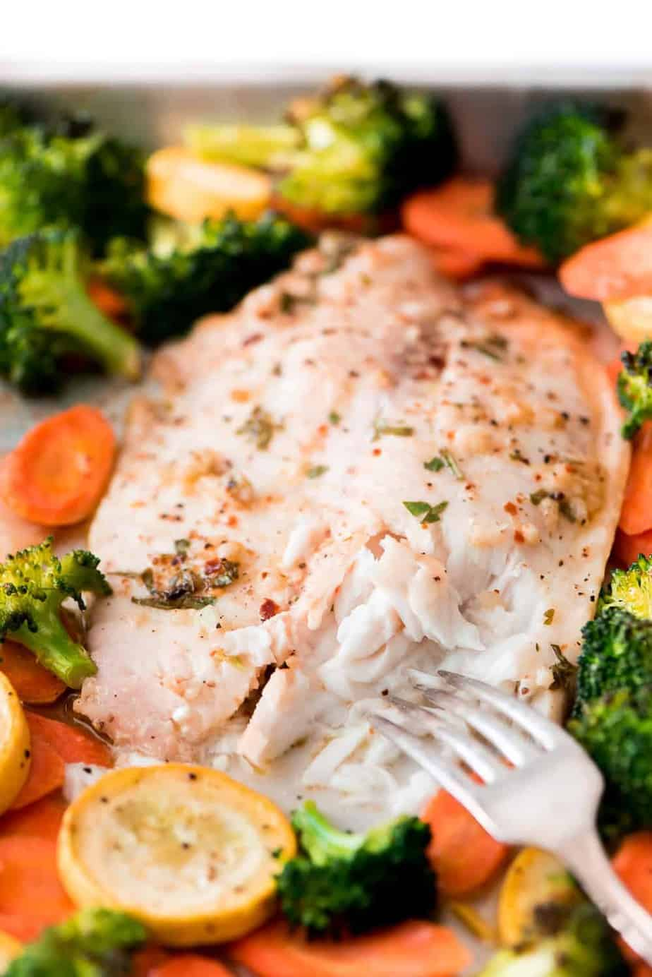 Healthy Tilapia with Roasted Veggies