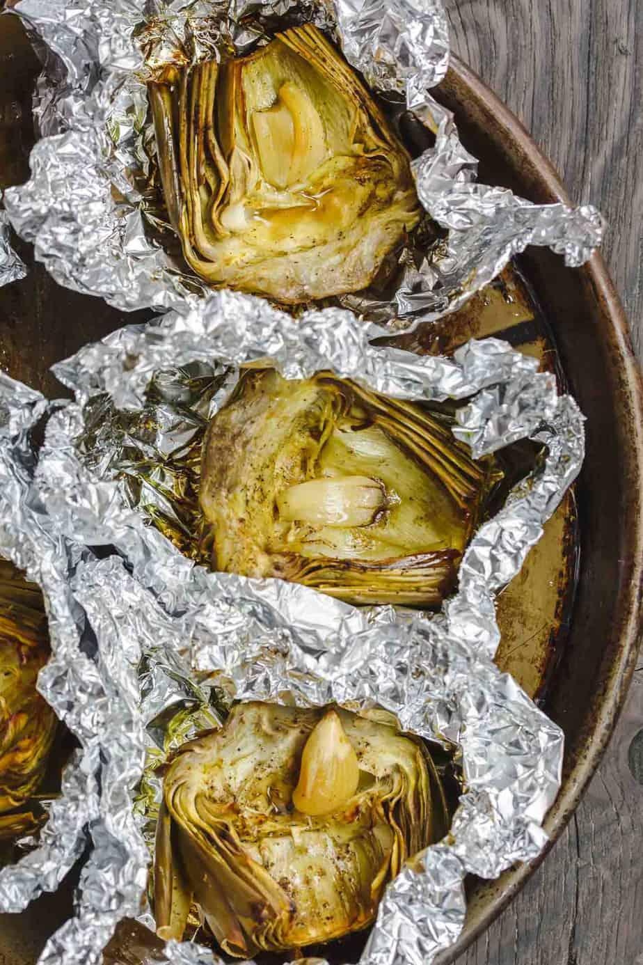 Roasted Artichoke in Foil