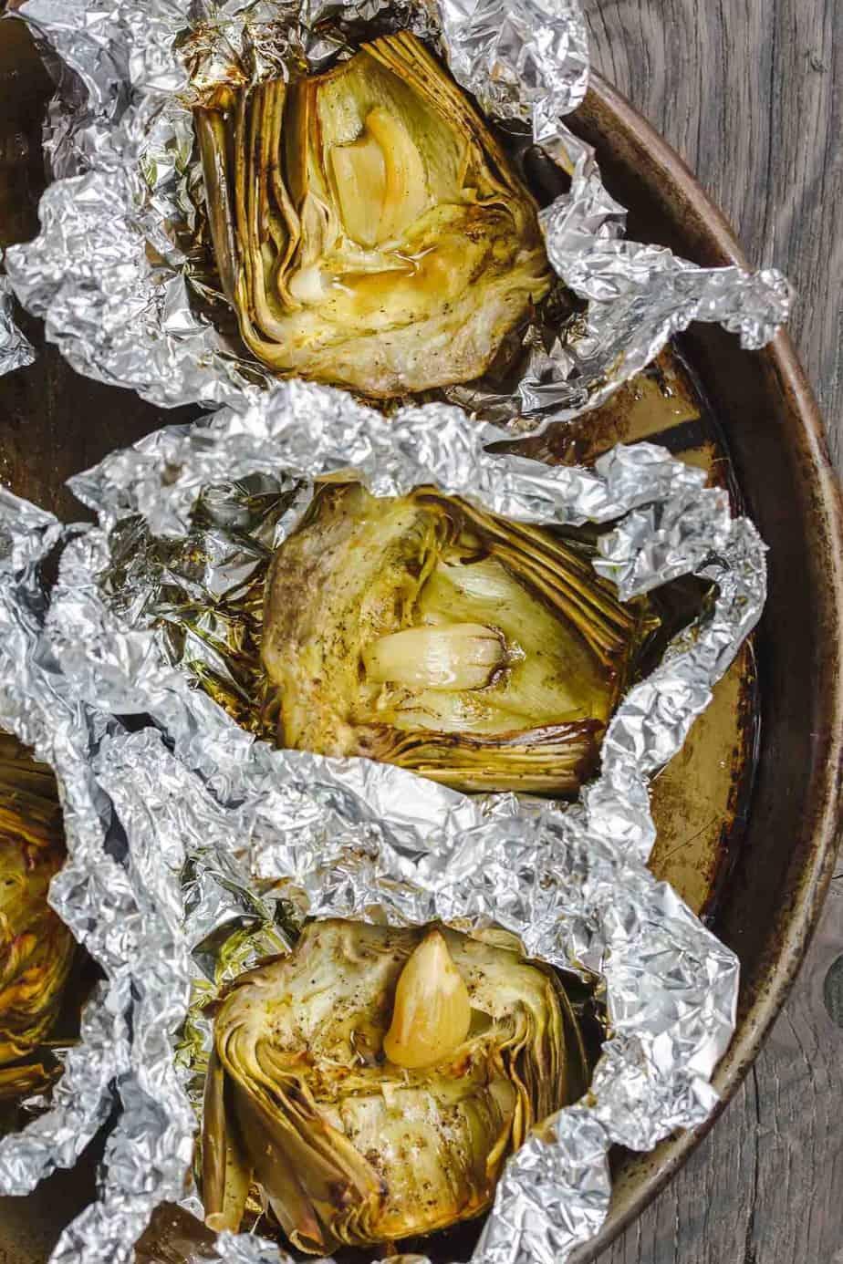 Roasted Artichoke in Foil