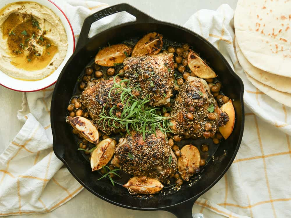 Crispy Chicken Thighs with Za'atar and Lemon