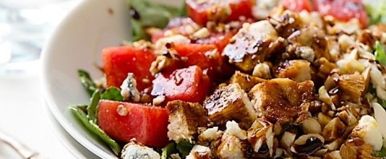Watermelon Chicken and Balsamic Salad