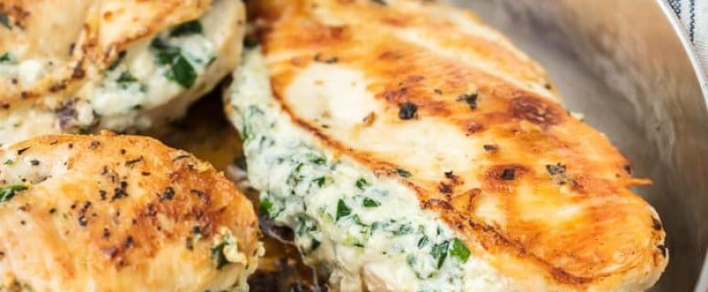 Spinach Cream Cheese Chicken Breast
