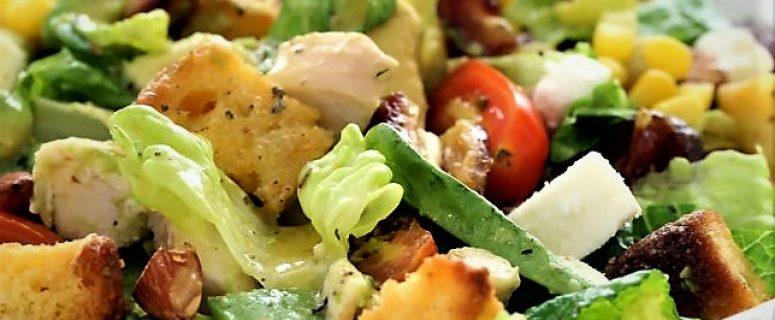 Chicken Salad with Avocado and veggies