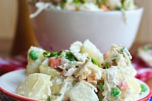 Potato Chicken and Apple Salad