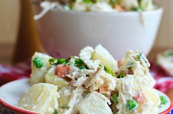 Potato Chicken and Apple Salad