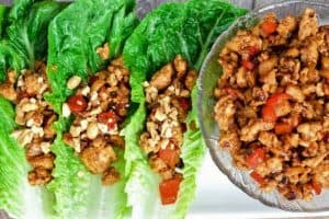 Healthy Chicken Lettuce Wraps