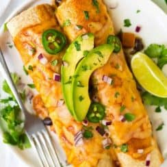 Vegetarian Enchiladas with Black Beans and Butternut Squash