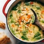 Creamy Lemony Chicken with Spinach Soap