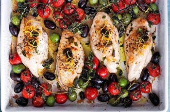 Chicken with Tomatoes and Olives real simple