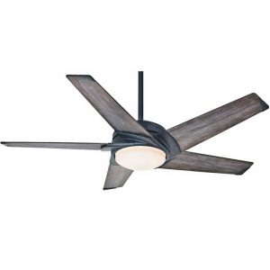 Casablanca Fan Co. Stealth Ceiling Fan in Aged Steel, 54 in. D | Metal